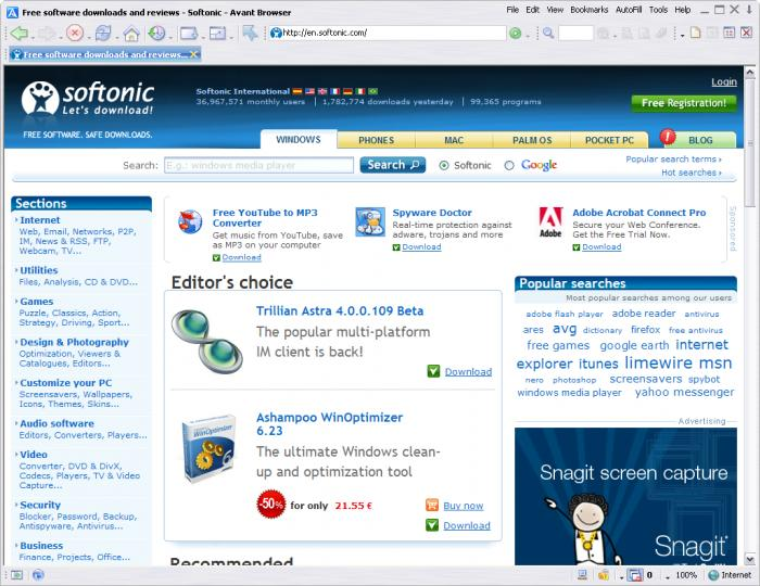 Download Portable browser for Windows – Avant