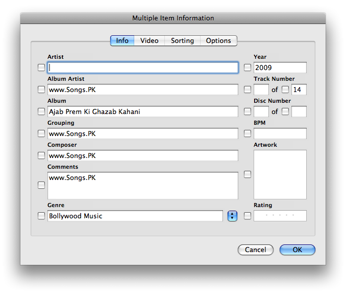 edit multiple songs itunes