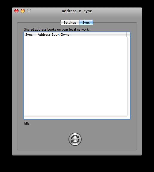 address book sync list