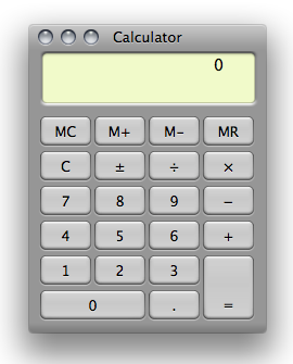 calculator basic view