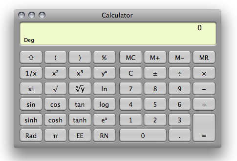 calculator scientific view