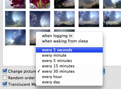 change desktop options