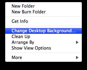 desktop right click options