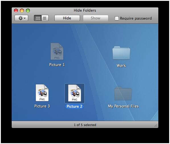 hide folders mac
