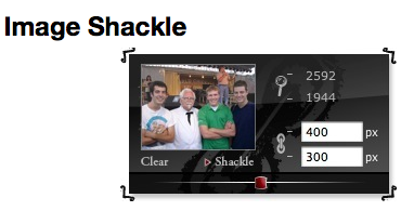 Resize an image in Mac quickly – Image Shackle Dashboard Widget