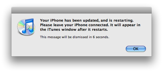 iphone software update complete