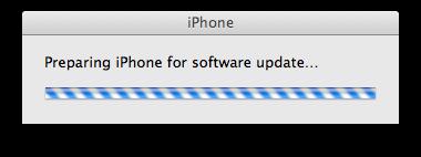 iphone prepare update
