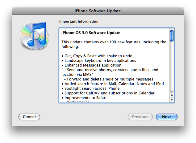 iphone update terms