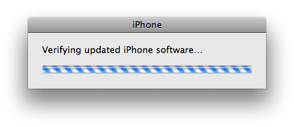 iphone verifying updated software