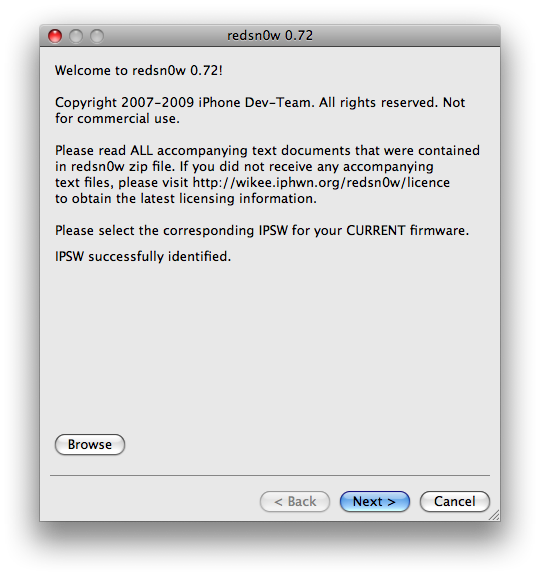 redsn0w identifies firmware 3.0