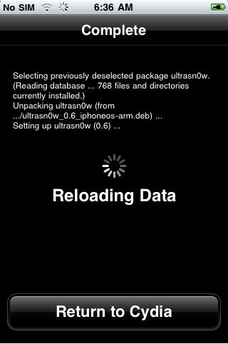 iphone ultrasn0w installed