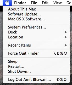 mac apple menu