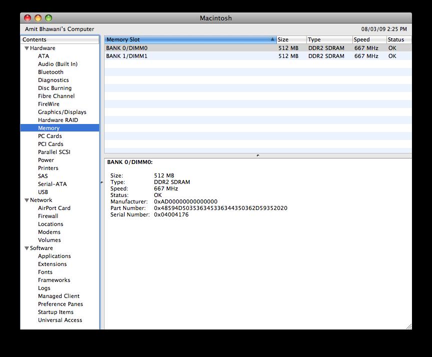 mac memory info