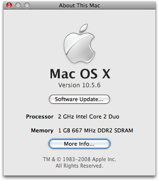 mac more info