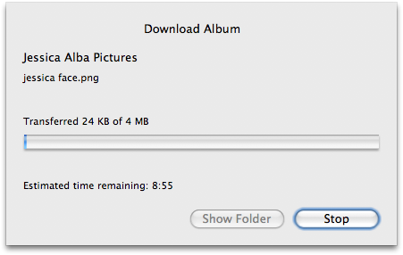picasa album downloading