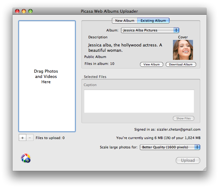 How to download your Picasa web albums in Mac?