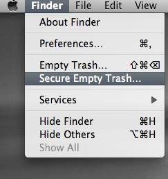 Securely delete your trash data in Apple Macbook