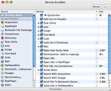 Tweak services in Mac with Service Scrubber