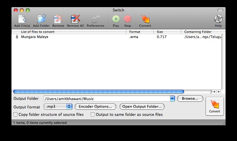 switch select files wma