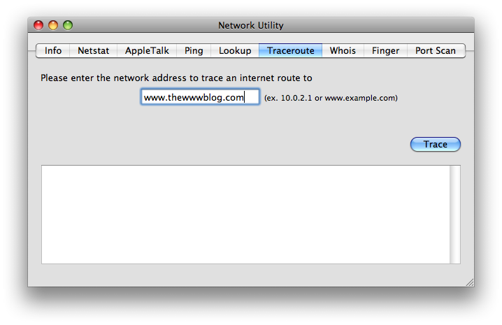 traceroute network utility