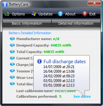 batterycare battery discharge