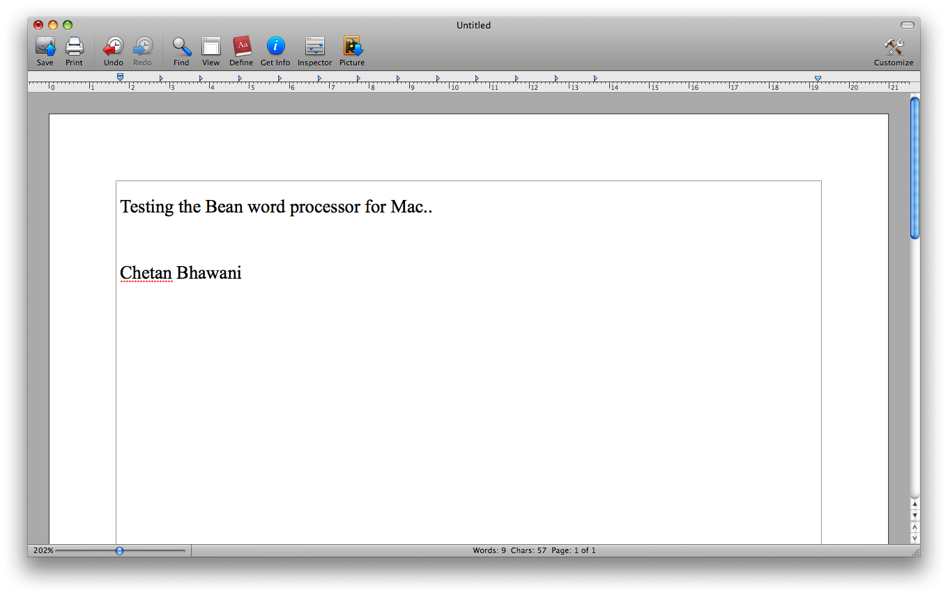Bean – A word processor for Mac OS X – Features, download