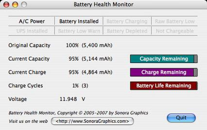 Battery Health Monitor Mac Application