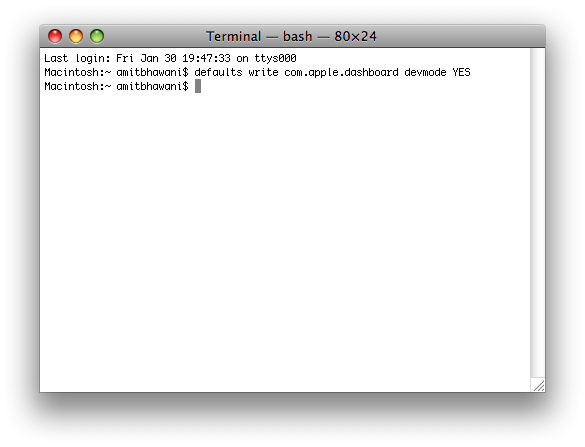 apple terminal command