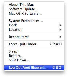 logout mac account