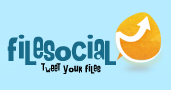 Share images, music, video, documents on twitter – Filesocial
