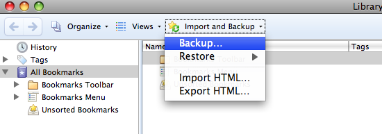 firefox backup bookmarks