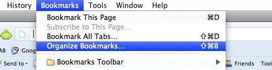 firefox organize bookmarks
