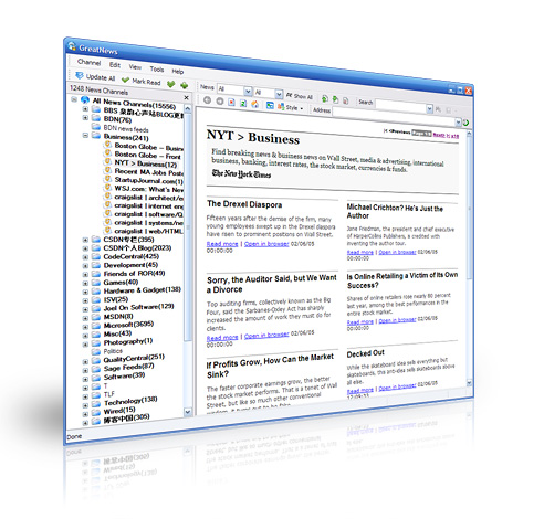 Desktop RSS reader for Windows – GreatNews