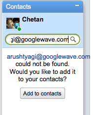 google wave add contact