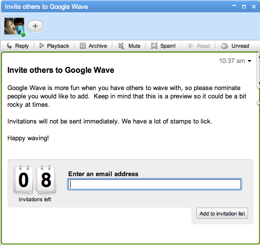 google wave invites