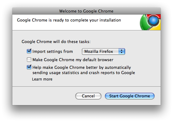 start google chrome mac