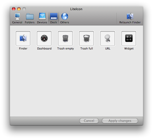 liteicon dock items