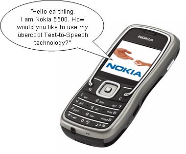 nokia text to speech