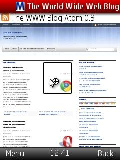opera mini 5 magnify page