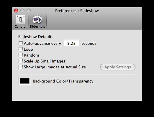 phoenix slide show preferences slide show