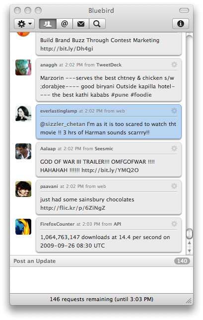 bluebird app ichat theme