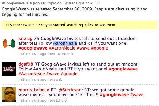 How to get a Google wave invite? Patience + Luck