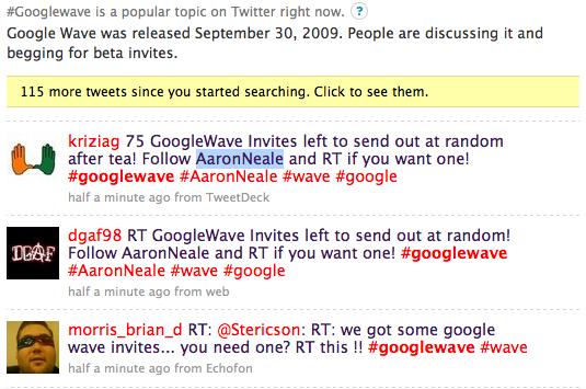 tweet follow wave