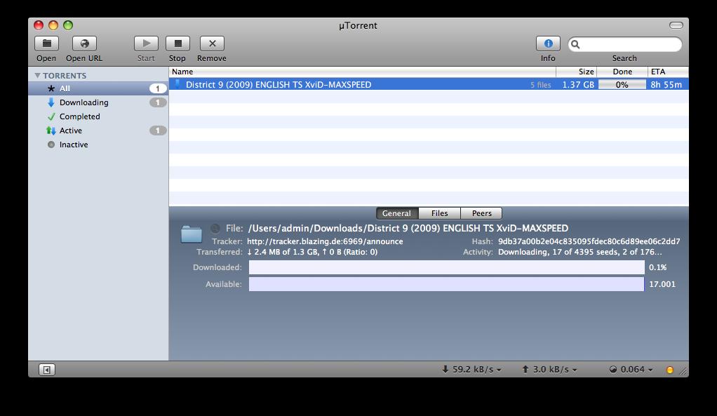 The best bittorrent client for Mac - µTorrent (utorrent