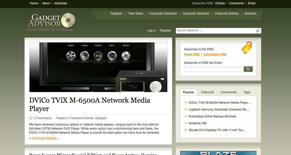 gadget advisor website