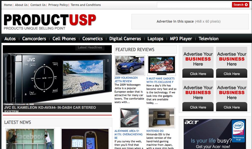 productusp website