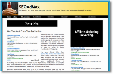 seoadmax wordpress theme