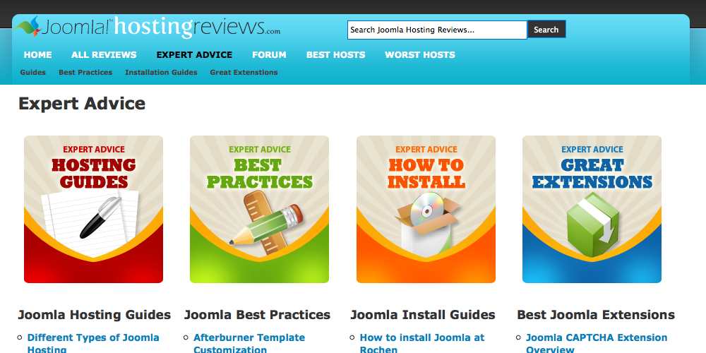 joomla hosting review site