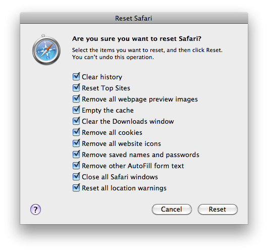 The WWW Blog How to Delete all the Private data in Safari