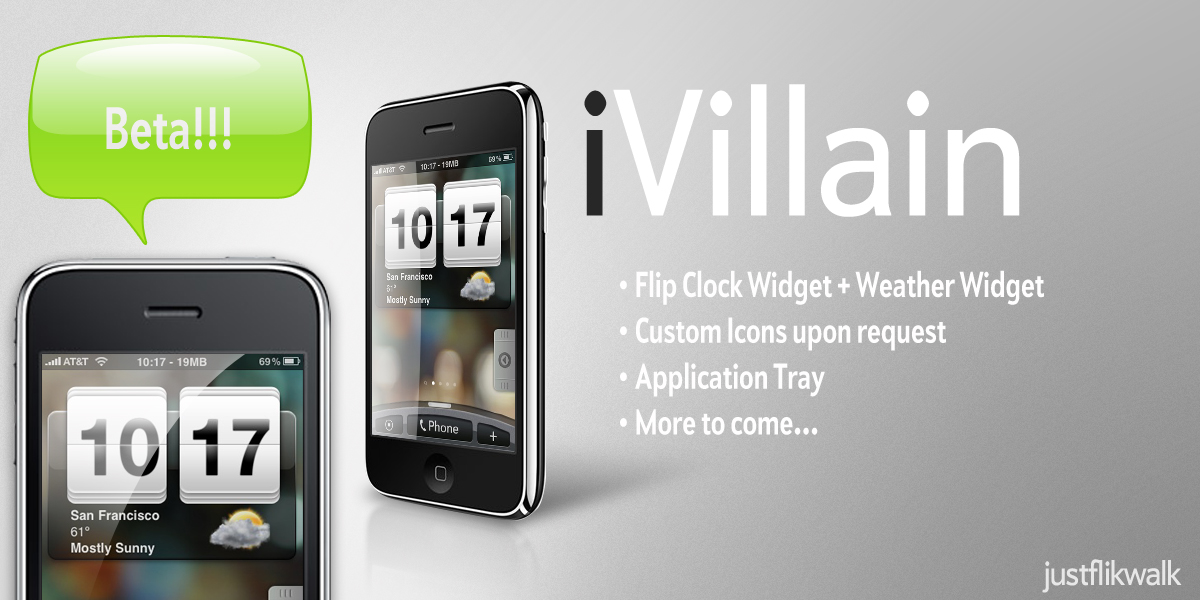 Download iPhone theme based on HTC Hero – iVillain